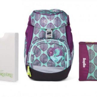 Školní set Ergobag prime zelený chameleon - batoh + penál + desky