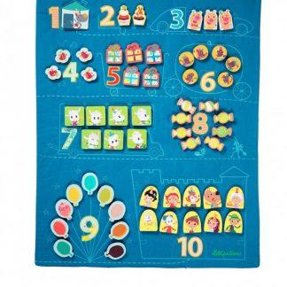 Lilliputiens - textilní panel - učím se počítat