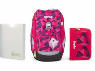 Školní set Ergobag prime Purpurový 2019 - batoh + penál + desky