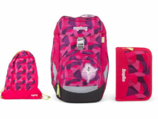 Školní set Ergobag prime Purpurový 2019 - batoh + penál + sportovní pytel