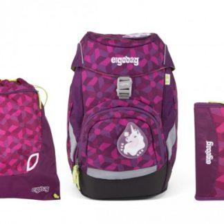 Školní set Ergobag prime fialový - batoh + penál + sportovní pytel