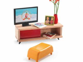Domeček pro panenky - pokoj s televizí
