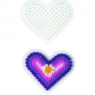 Hama Midi - podložka malé srdce