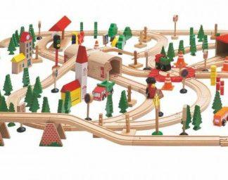 """Vláčkodráha """"Super Train"""" v dřevěné krabici"""