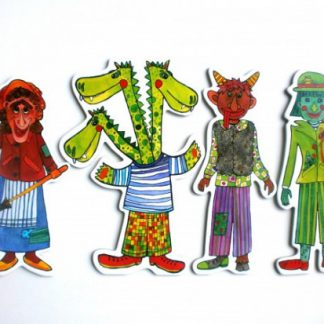 Marionetino -  Loutkový balíček bez tyček - Strašidla