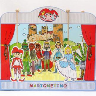 Marionetino - Loutkové divadlo - univerzální sada loutek a kulis