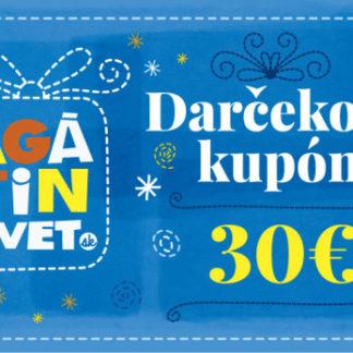 Agátin darčekový kupón: 30 EUR