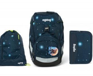 Školní set Ergobag prime Galaxy modrý 2020 - batoh + penál + sportovní pytel