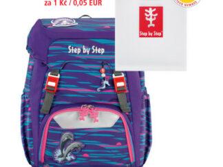 Školní batoh GRADE Step by Step Delfínci + desky na sešity za 1 Kč