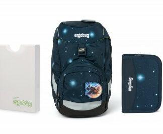 Školní set Ergobag prime Galaxy modrý 2020 - batoh + penál + desky