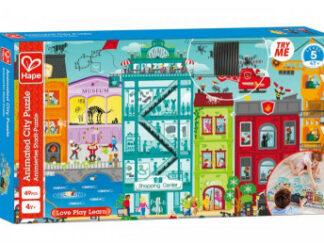 Puzzle - Animované městečko v pohybu