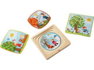Dřevěné puzzle - 4 roční období
