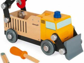 BricoKids - Dřevěné auto a stavebnice - Nákladní auto - 43 ks
