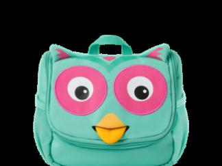 Dětská kosmetická taštička Affenzahn Owl - Turquoise