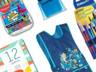 Balíček školních potřeb - výtvarné potřeby pro chlapce