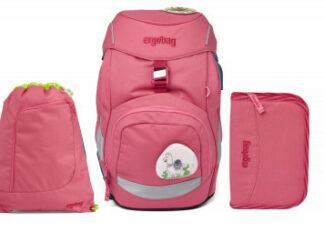 Školní set Ergobag prime - Eco pink - batoh + penál + sportovní pytel
